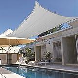 Patio Paradise 8' x 12' Light Grey Sun Shade Sail Rectangle Square Canopy - Permeable UV Block Fabric Durable Outdoor - Customized Available