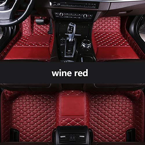 MDJFB for Custom Car Floor Mats for BYD all models G3 G6 S6 F6 L3 M6 F0 F3 Surui SIRUI G5 S7 E6 E5 auto styling accessories Floor Mats,wine red