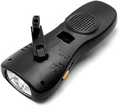 CHENTAOCS Radio Flashlight Emergency Self-generating LED Flashlight Multifunctional Charging Treasure Tool (Color : Black)