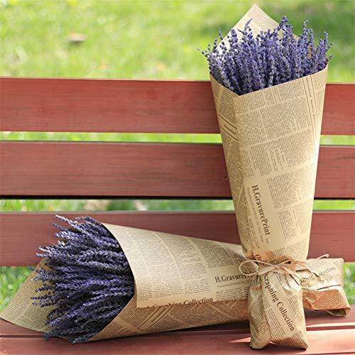 Fiori secchi di Lavanda 100 Pezzi/Pacco Fiori di Lavanda Provenza Naturale Bouquet profumato Disposizione dei Fiori per Bouquet da Sposa Vaso Home Deco