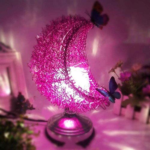 Moon Lamp 3D Moon Lamp Night Light, Aroma Electric Wax Melt Burner Romantic Lamp Atmosphere for Decoration & Bedroom & Home (Color : Purple)
