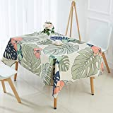 Yueyue947/Tropical Plants Tablecloth Banana Leaf Pattern Table Cloth/Linen Tablecloth Nappe Home r manteles Table Cover/Y 100x140cm