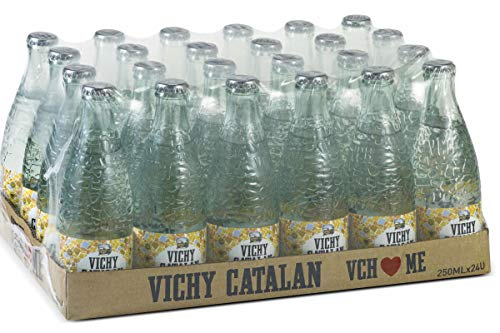 Vichy Catalán Agua Mineral con Gas botella cristal 250 ml. - [Pack 24]