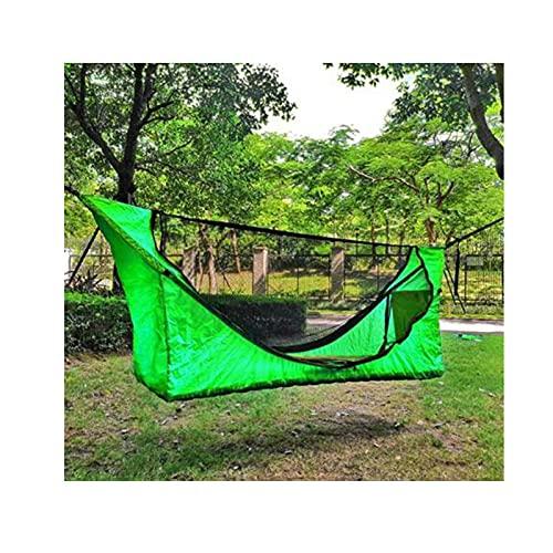 Camping Hamaca ligero Nylon Canopy Tent Set,Impermeable al aire libre refugio al aire libre,Backpacking Viajes Playa Senderismo Pergola Suspensión,
