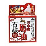 リケン 日本製馬油石鹸 泡立てネット付(100g)