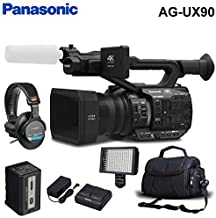 Panasonic AG-UX90 4K/HD Handheld Camcorder Accessory Kit with Carrying Case, Pro Headphones, and LED Light