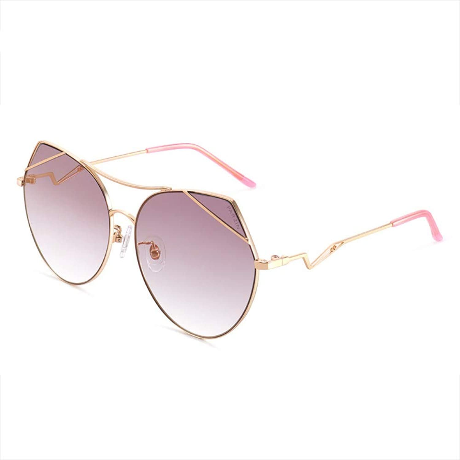 Fashion Sunglasses Ladies Psychedelic colorful Light Sunglasses With Clothes gold Frame