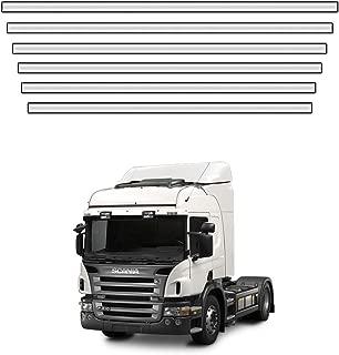 Acabamento Grade Frontal Scania P 2013 A 2018 Em Inox