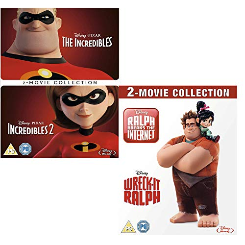 Incredibles (I and II) - Wreck-IT Ralph (I and II) - Walt Disney 2 Movie Collection Bundling Blu-ray
