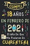 Cumplí 18 Años En Febrero De 2021: El Año En Que Me Pusieron En Cuarentena   Regalo de cumpleaños de 18 años para niños y niñas, 18 años cumpleaños ... rayadas)