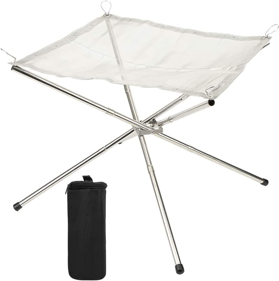 Colorado Springs Mall Bicaquu Iron Portable Camping Burning Rack Garden Durable Suppl 2021 model