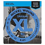 D'Addario Nickel Wound Electric Guitar Strings, 1-Pack, Jazz Light, 12-52