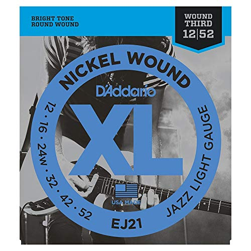 D'Addario EJ21 XL Nickel Jazzsaiten E-Gitarre Light 012' - 052'