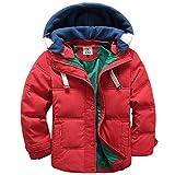Taigood Bambino Giubbotto Piumino Invernale Caldo Leggero Removibile Cappotto con Cappuccio Ragazzi Ragazze Jacket 3-8 Anni