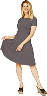 Lunarable Women's Short Sleeved Summer Dress Round Neck