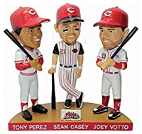 Tony Perez Sean Casey Joey Votto Triple Player 2017 Cincinnati Reds Bobblehead SGA