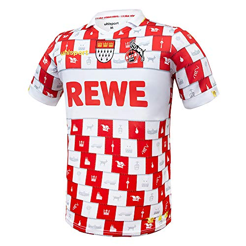 uhlsport 1. FC Köln Karneval Fastelovend Trikot 20/21 (XL, red/White)