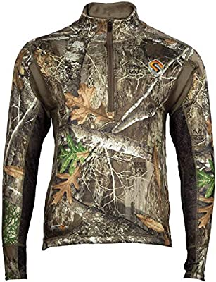 ScentLok Mens Hunting Clothes - BaseSlayers AMP Late Season Heavyweight Long Sleeve Top - Odor Adsorbing and Prevention