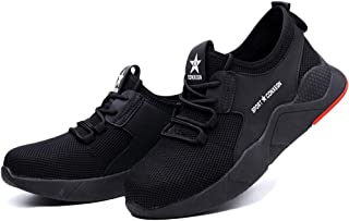 LHEM Chaussures de S/écurit/é Homme Chaussures de Travail Embout Acier Protection Poids l/éger Absorption des Chocs Homme Femmes