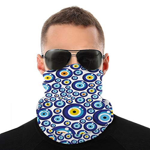 Variety Head Scarf Bandana Face Cover Evil Eye Turkish Traditional Dustproof Windproof Variety Head Scarf Balaclava For Women Men
