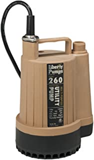 Liberty Pumps 260 Discharge Submersible Utility Pump, brown/black