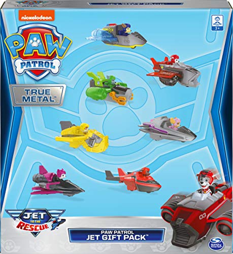 Paw Patrol, True Metal Jet to The Rescue Gift Pack with 7 Collectible Die-Cast Vehicles, 1:55 Scale, Amazon Exclusive
