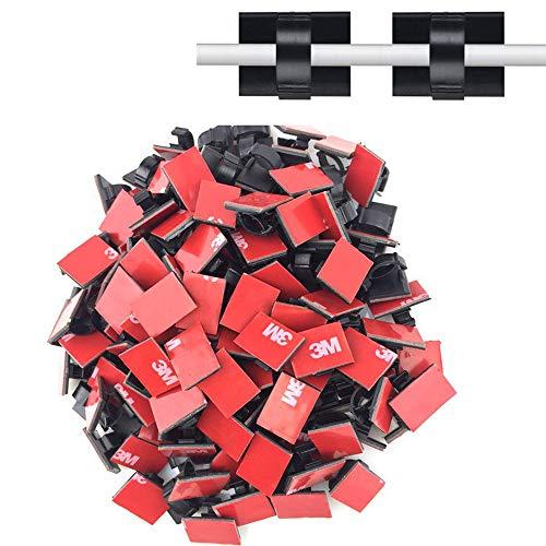 Hochwertige, selbstklebende Kabel-Clips, Draht-Clips,Kfz-Kabel-Ordner, Kabel-Management,Drop-Kabelklemme,Kabelbinder,Drahtbinder,Für Auto, Büro und zu Hause, 3M,100 Stück