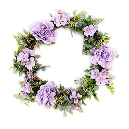 RRunzfon Guirnalda de la Flor de la Camelia Artificial de Seda de la Guirnalda de Primavera Artificiales Fiesta de Puerta de la Ventana Pared púrpura de la Boda, Las Decoraciones del jardín