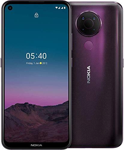 Nokia 5.4 Smartphone mit 6,39-Zoll-HD+-Display, 4 GB RAM, 128 GB Speicher, 48-MP-Vierfach-Kamera, Qualcomm Snapdragon 662, 2 Tagen Akkulaufzeit und Android-Upgrades, Dual-SIM - Dusk