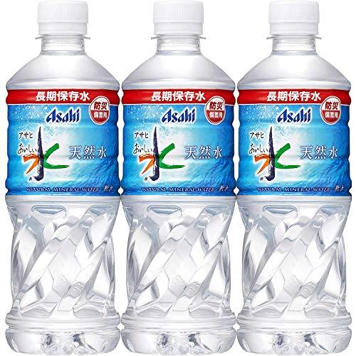 アサヒ飲料 おいしい水 天然水 長期保存水(防災備蓄用) 500ml 1箱(24本)