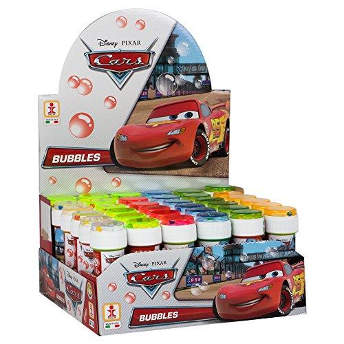 36 x zeepbellen flessen van 60 ml Disney Cars met geduldspel in het deksel