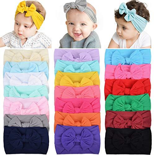 20 diademas de nailon para bebé, para el pelo, elásticos, para bebés recién nacidos, niños pequeños (228 – 20 unidades)