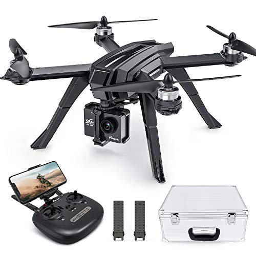 Potensic D85 FPV Drone with 2K Camera for Adult with Brushless Motor, 5G WiFi Live Video, RC Quadcopter for Beginner, GPS Return Home, Follow Me, Carry Case with 2 Batteries, 40 Min Long Flight Time