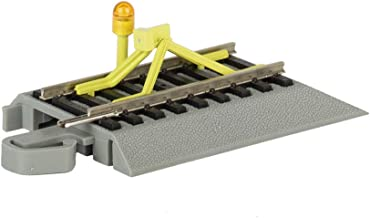 Bachmann Trains - Snap-Fit E-Z Track Flashing LED Bumper - Nickel Silver Rail with Gray Roadbed - HO Scale