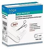 Höga Med Soft elastischer Wundverband - 5 m x 4 cm - Wund-Pflaster, hypoallergen, atmungsaktiv, nicht wundhaftend, stark absorbierend.
