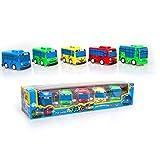 JWBOSS Little Bus Set Tayo the Little Bus, 5 piezas de vehículos, Mini Cars Juguete para niños