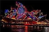 ZTCLXJ Painting Puzzle Decoración Sydney Opera House 70 Piezas Genuine Puzzles De Madera para Niños Niñas Bricolaje Brain Challenge para La Decoración De La Pared De La Casa 20 × 15 Cm