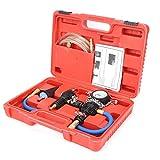 Probador del sistema de enfriamiento, kit de recarga de refrigerante de purga al vacío Tester de presión del radiador universal automotriz Sistema de herramientas de enfriamiento con estuche