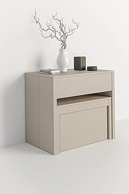 IRene Kit console extensible avec 2 bancs (blanc)