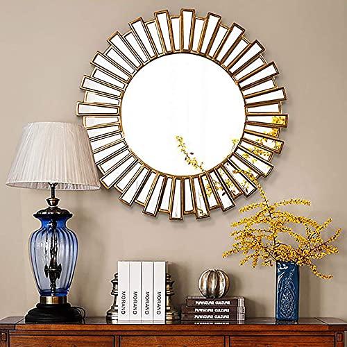 GLXLSBZ Sunburst Moderne Miroir Miroir Mural décor Mural Design Parfait pour Chambre à Coucher, Salon, Couloir Style Moderne Nordique