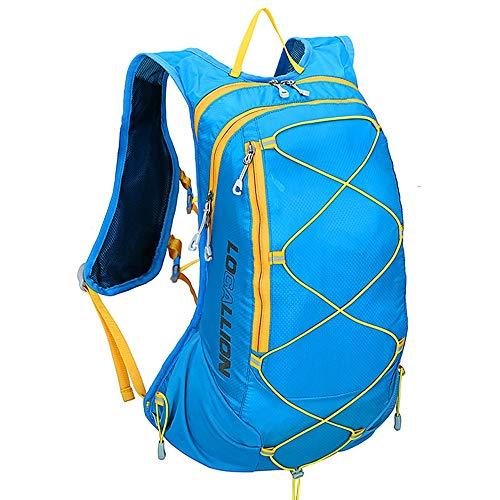 Sac à dos de cyclisme Sacs à dos étanches avec soutien dorsal rembourré et bretelles réglables coussinées Sac à dos idéal pour la randonnée, le cyclisme, le vélo de montagne et le ski 15L pour Camping