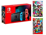 Nintendo Switch Console Rouge/Bleu Néon 32Go + Super Mario Odyssey + Splatoon 2