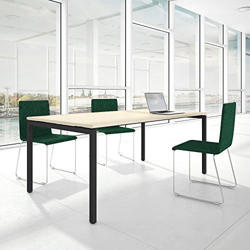 Weber Büroleben GmbH Profi Besprechungstisch 200x100cm NOVA U 4-8 Pers. Konferenztisch Meetingtisch, Gestellfarbe:Anthrazit