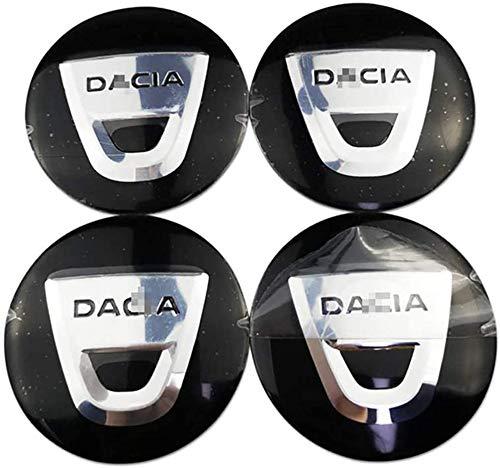 4 Piezas 3D Aluminio Tapas centrales Rueda Accesorios para Dacia Duster Logan Sandero Dokker