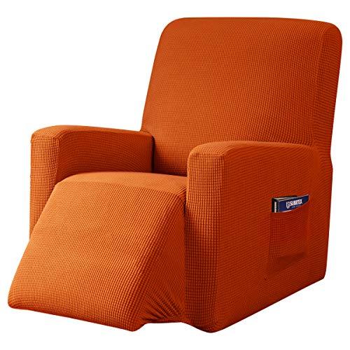 subrtex Funda de Sillón Relax Elástica Completo Protector para Sillón Reclinable (Naranja)