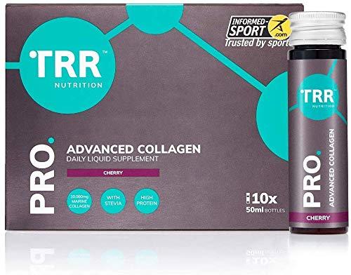 TRR Nutrition PRO Advanced Collagen - 10,000mg Marine Collagen - Daily Liquid Shot Sports Supplement (Cherry) (10 Days)