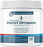 Fibrolief: Energy Optimizer - Vitamin and Herbal Supplement Powder - 1-Month Supply - Supports Physical and Mental Energy - No Artificial Sweeteners - All-Natural Flavoring - Absorbs Fast