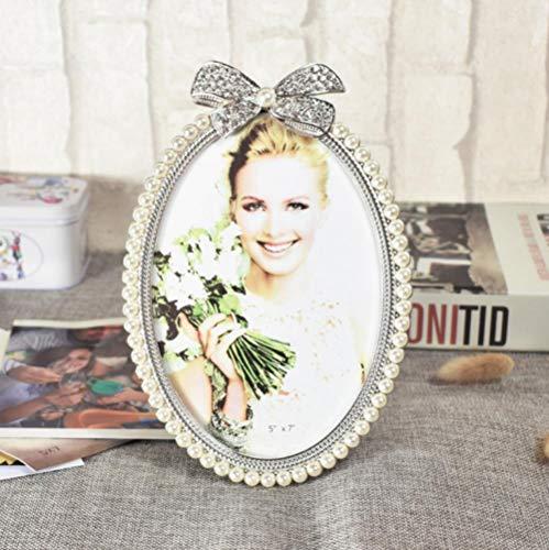 Fotolijst voor foto's Home Portrait Family Fotolijst Fotoalbum in Europese stijl 7 inch Originaliteit Mooie Ellipse Fotolijst Bruidsjurk Studio Fotolijst Fotolijst Wassen