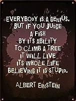 面白いユーモアアインシュタイン天才引用キッチンガレージアートポスター