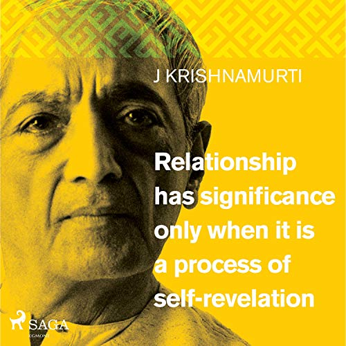 Relationship has significance only when it is a process of self-revelation cover art